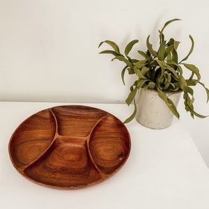 Wood serving dish